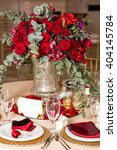 table setting at a luxury... | Shutterstock . vector #404145784
