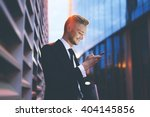 happy smiling businessman... | Shutterstock . vector #404145856
