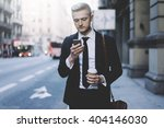 young professional businessman... | Shutterstock . vector #404146030