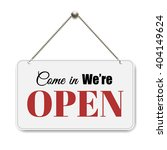 open sign with gradient mesh ... | Shutterstock .eps vector #404149624