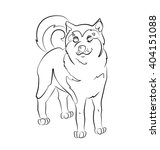 black and white image of a dog  ... | Shutterstock .eps vector #404151088