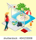 summer vacation concept. online ... | Shutterstock . vector #404153008