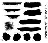 black blobs set  isolated on