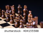 playing wooden chess pieces ... | Shutterstock . vector #404155588
