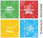 set of summer holidays design... | Shutterstock .eps vector #404156650
