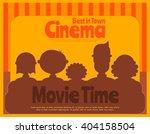 cinema poster. movie placard.... | Shutterstock .eps vector #404158504