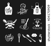 kitchen related typography set. ... | Shutterstock .eps vector #404170909
