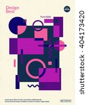 static design poster. simple... | Shutterstock .eps vector #404173420