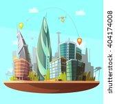 modern city downtown buildings... | Shutterstock .eps vector #404174008