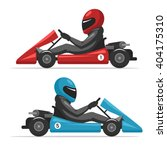 karting go. racing on sport... | Shutterstock .eps vector #404175310