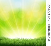 green sunburst background with... | Shutterstock .eps vector #404177920