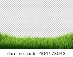 green grass border  isolated on ... | Shutterstock .eps vector #404178043