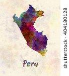 peru in watercolor | Shutterstock . vector #404180128