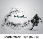 basketball player of particle....   Shutterstock .eps vector #404182843