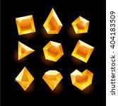 set of cartoon orange different ... | Shutterstock .eps vector #404183509