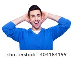 what a surprise  surprised... | Shutterstock . vector #404184199