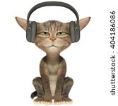 Kitten Listens To The Music In...