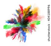 launched colorful powder on... | Shutterstock . vector #404188996