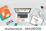 e learning  education and... | Shutterstock .eps vector #404189200