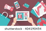 online shopping and delivery... | Shutterstock .eps vector #404190454