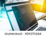 web developer's laptop | Shutterstock . vector #404191666
