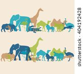 colorful pattern african... | Shutterstock .eps vector #404192428
