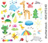 kids drawings cute collection | Shutterstock .eps vector #404195140