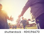 high five line after a child's... | Shutterstock . vector #404196670