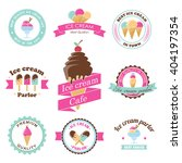 vector ice cream stamps. frozen ... | Shutterstock .eps vector #404197354