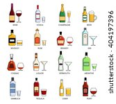 vector alcohol list icons... | Shutterstock .eps vector #404197396