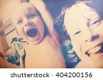 laughing brothers selfie ... | Shutterstock . vector #404200156