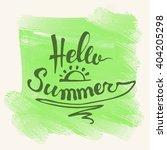 Hello Summer. Summer Season....