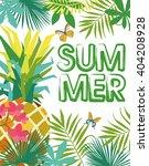 hello summer | Shutterstock .eps vector #404208928