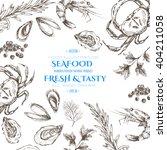 vector seafood designer... | Shutterstock .eps vector #404211058