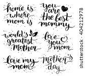 happy mother's day hand... | Shutterstock .eps vector #404212978