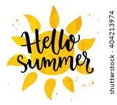 hello summer banner. typography ... | Shutterstock .eps vector #404213974