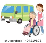 elderly woman and caregiver | Shutterstock . vector #404219878