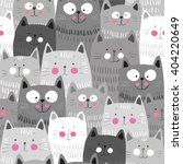 cute cats colorful seamless... | Shutterstock .eps vector #404220649