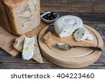 homemade cheese on sliced bread ...   Shutterstock . vector #404223460