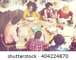 diverse group people working... | Shutterstock . vector #404224870