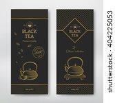 Black Tea Design Package. Black ...