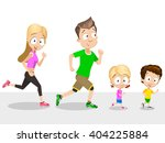 vector illustration of running... | Shutterstock .eps vector #404225884