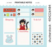 kawaii and cute set vector... | Shutterstock .eps vector #404226484