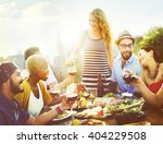 diverse people friends hanging... | Shutterstock . vector #404229508