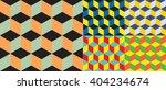 Set Of Five Seamless Geometric...