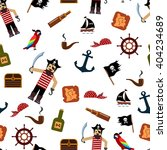 pirate seamless pattern. set ... | Shutterstock .eps vector #404234689