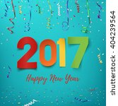 happy new year 2017 background. ... | Shutterstock .eps vector #404239564