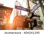 street sign of fifth ave and... | Shutterstock . vector #404241190