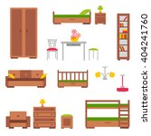 set of furniture flat icons.... | Shutterstock .eps vector #404241760