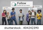 follow followers following...   Shutterstock . vector #404242390